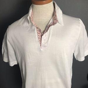Salvatore Ferragamo floral collar polo shirt M